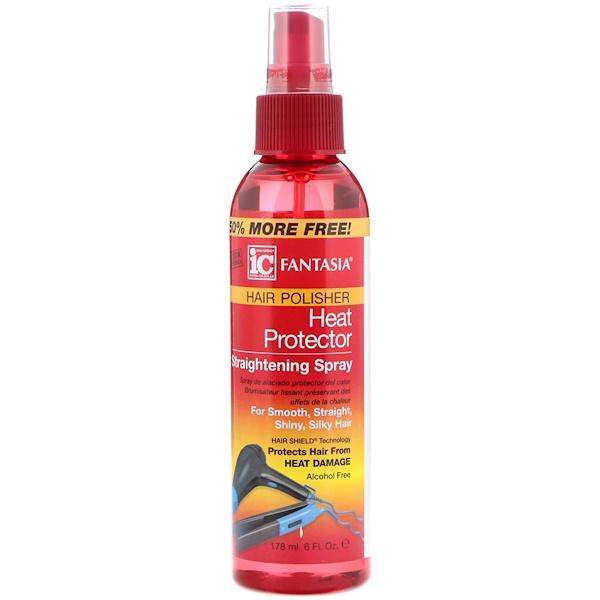 IC, разглаживание волос, выпрямляющий спрей для защиты волос, 6 ж. унц. (178 мл)