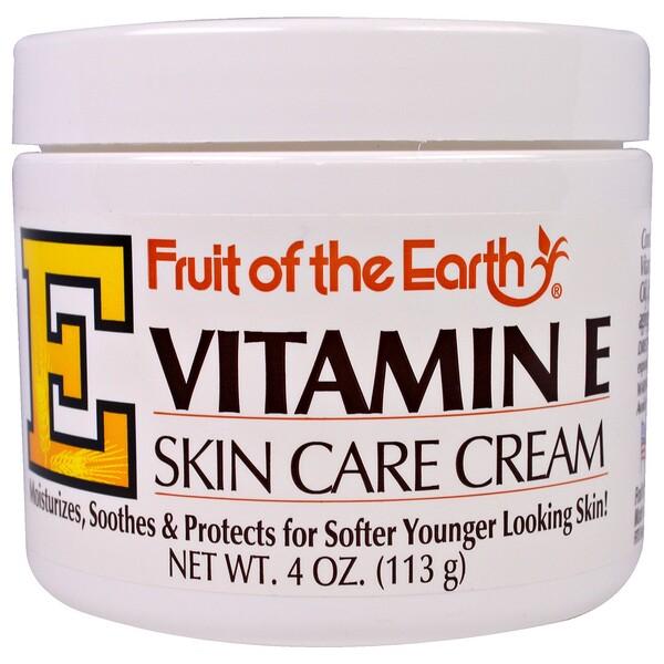 Витамин E, крем по уходу за кожей, 4 унции(113 г)