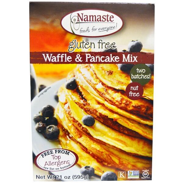 Namaste Foods, Безглютеновая смесь для вафель и блинов, 21 унция (595 г) (Discontinued Item)