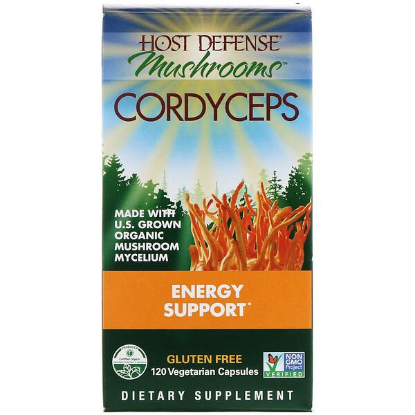 Энергетическая поддержка с кордицепсом, 120 вегетарианских капсул