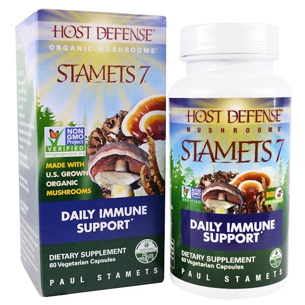 Stamets 7, ежедневная иммунная поддержка, 60 растительных капсул