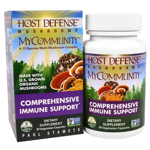 Fungi Perfecti, грибной экстракт для комплексного поддержания иммунитета, 30 капсул в растительной оболочке