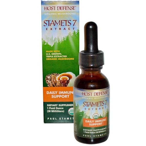Stamets 7 Extract, ежедневная иммунная поддержка, 1 жидкая унция (30 мл)