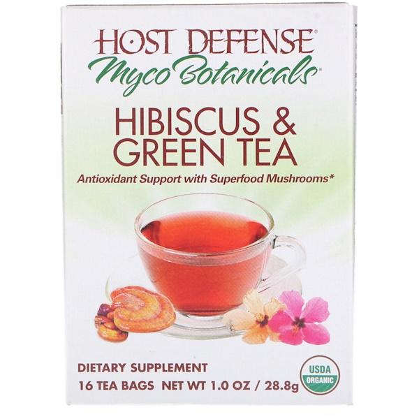 Fungi Perfecti, MycoBotanicals, Hibiscus & Green Tea, 16 Tea Bags, 1.0 oz (28.8 g) (Discontinued Item)