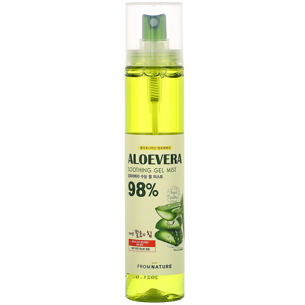 FromNature, Aloe Vera, 98% Soothing Gel Mist, 120 ml