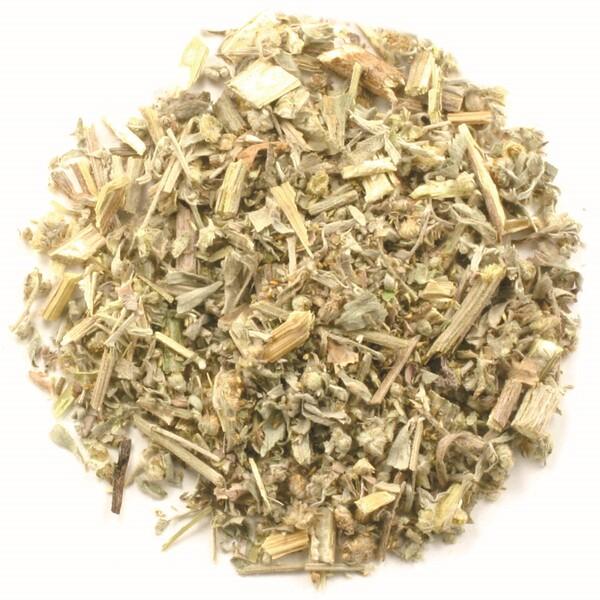 Органическая трава полыни, порезанная и просеянный, 16 унций (453 г)