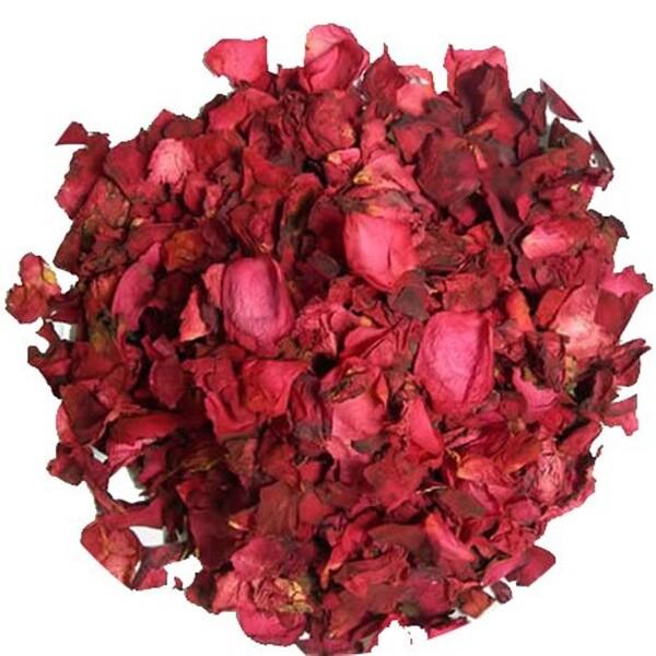 Цельные бутоны и лепестки красной розы, 16 унций (453 г)