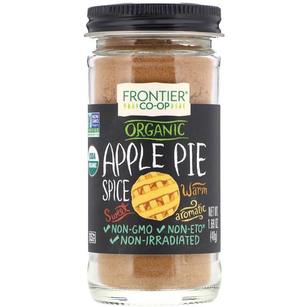 Frontier Natural Products, Organic, специи для яблочного пирога, 48г (1,69унций)