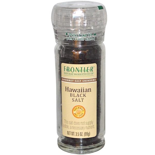 Frontier Natural Products, Гавайская черная соль 3.5 унции (99 г) (Discontinued Item)