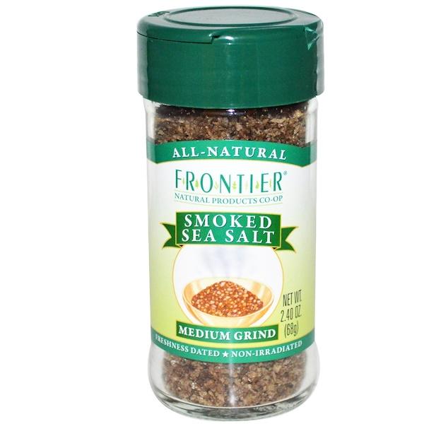 Frontier Natural Products, Копченая морская соль, средняя, 68 г (2,40 унции) (Discontinued Item)