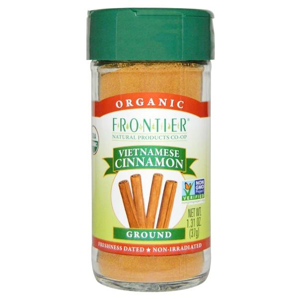 Frontier Natural Products, Органическая вьетнамская корица, помоленная, 37 г (1,31 унции) (Discontinued Item)