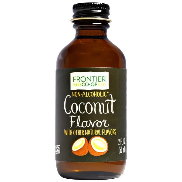 Frontier Natural Products, Кокосовый ароматизатор, безалкогольный, 2 жидких унции (59 мл) (Discontinued Item)