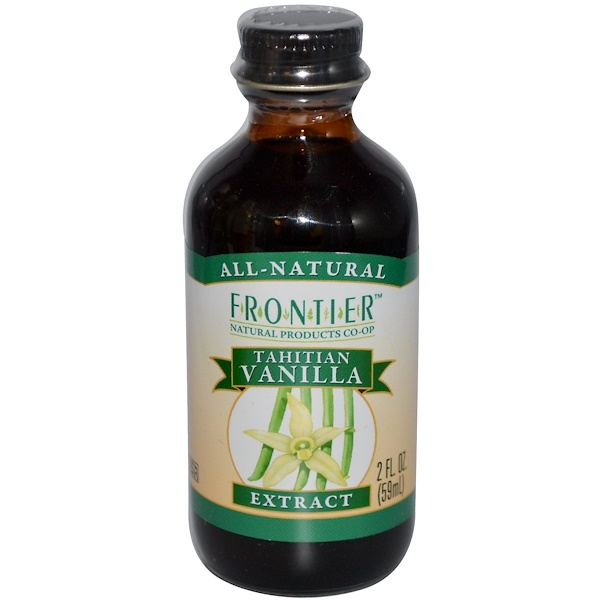 Frontier Natural Products, Tahitian Vanilla Extract, Farm Grown , 2 fl oz (59 ml) (Discontinued Item)
