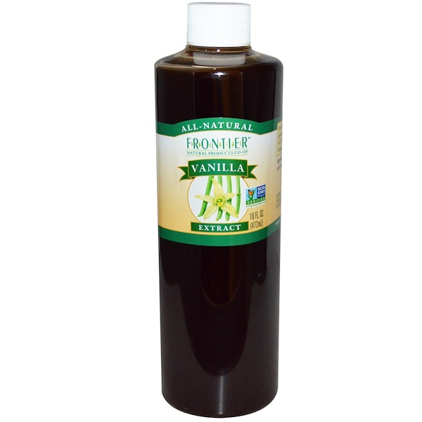 Frontier Natural Products, All-Natural, Vanilla Extract, 16 fl oz (472 ml) (Discontinued Item)