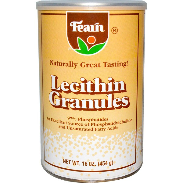 Fearn Natural Food, Лецитин в гранулах, 454 г (Discontinued Item)
