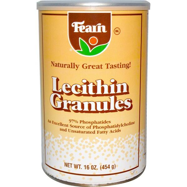 Fearn Natural Food, Лецитин в гранулах, 454г (Discontinued Item)
