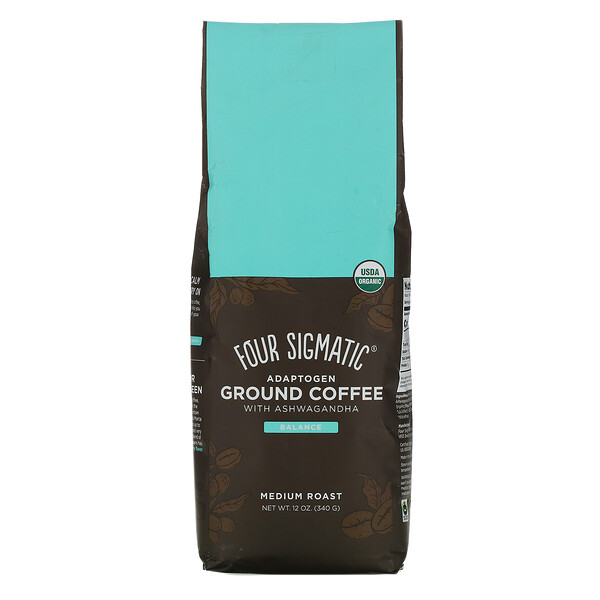 Four Sigmatic, Adaptogen Ground Coffee with Ashwagandha, Medium Roast, 12 oz (340 g)