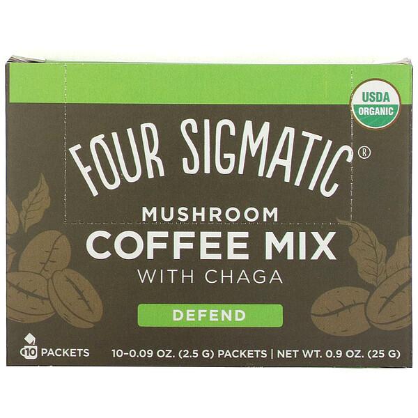 Mushroom Coffee Mix with Chaga, 10 Packets, 0.09 oz (2.5 g) Each