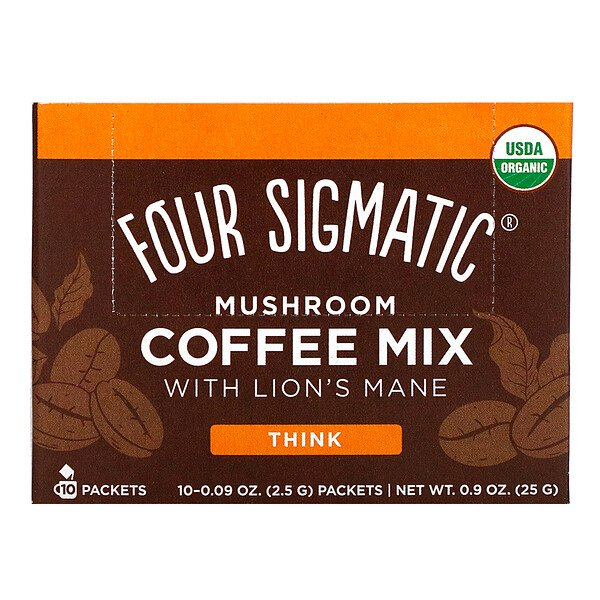Mushroom Coffee Mix with Lion's Mane, 10 Packets, 0.09 oz (2.5 g) Each