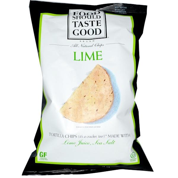Food Should Taste Good, Кукурузные чипсы, лайм 5.5 унции (156 г) (Discontinued Item)