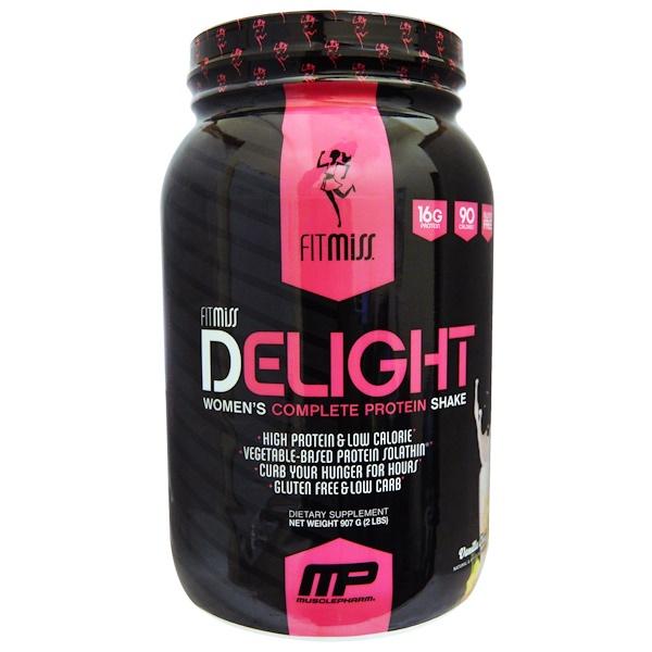 FitMiss, Delight, Протеиновый шейк для женщин - для полноценного питания, Ванильный чай, 907 г