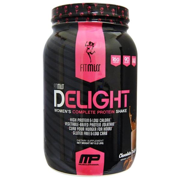 Delight, протеиновый коктейль для женщин, со вкусом шоколада, 907 г (2 фунта)