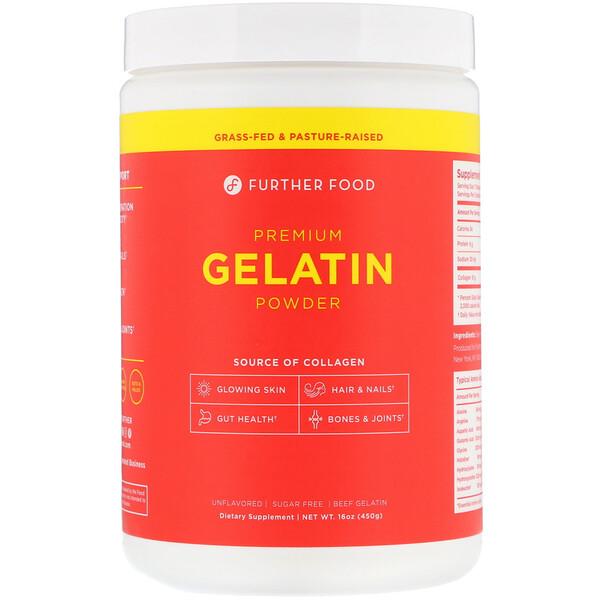 Premium Gelatin Powder, Unflavored, 16 oz (450 g)