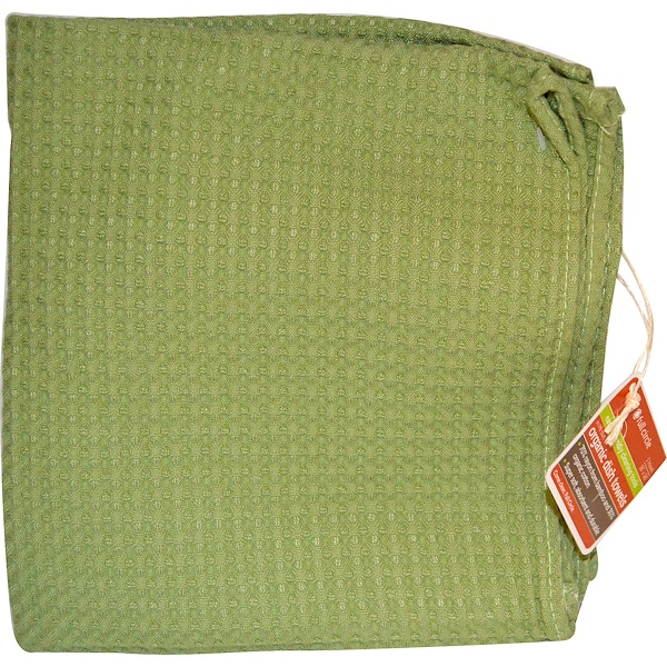 """Full Circle, In The Buff, 16"""" x 26"""" Dish Towel, Green (Discontinued Item)"""