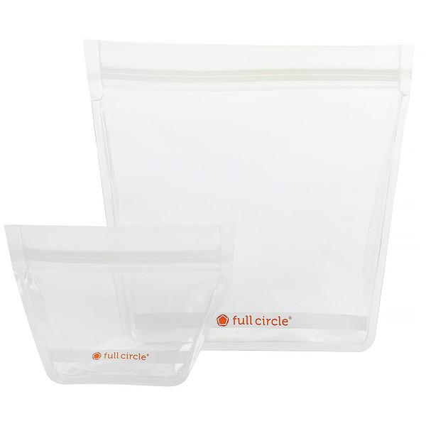 ZipTuck, многоразовые пакеты для поездок, прозрачные, 1 мини + 1 дорожный
