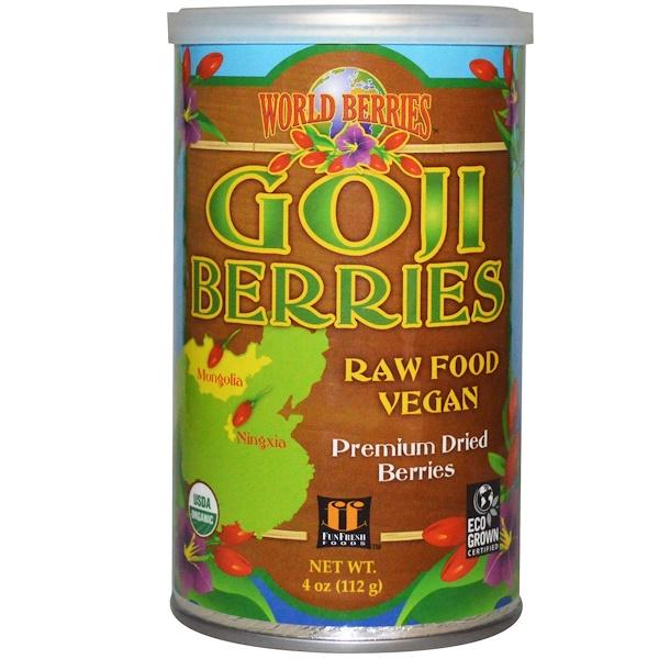 FunFresh Foods, Ягоды мира, натуральные ягоды годжи, 4 унции (112 г) (Discontinued Item)