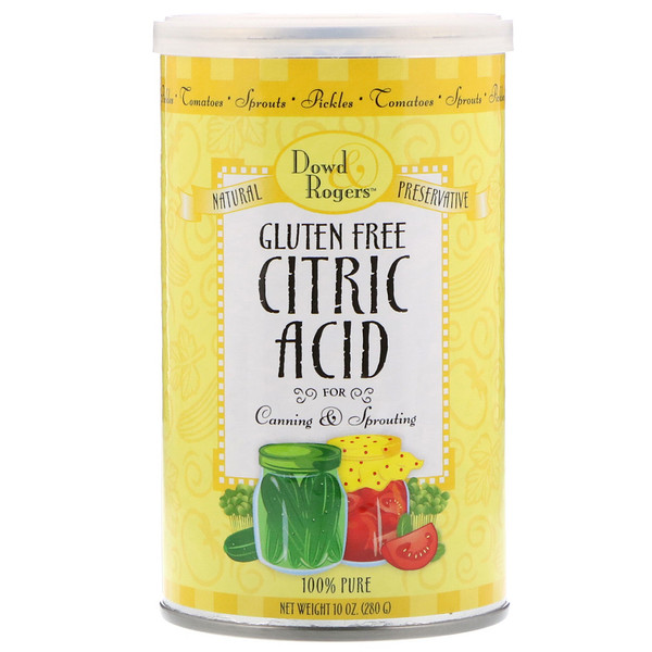 FunFresh Foods, Dowd & Rodgers, Citric Acid, 10 oz (280 g) (Discontinued Item)