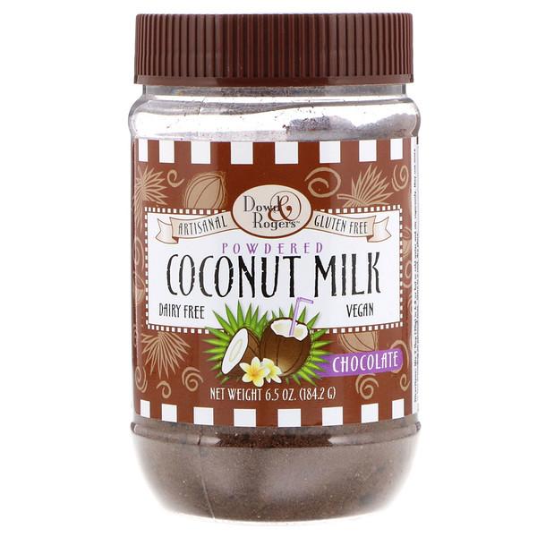 FunFresh Foods, Dowd & Rodgers, Coconut Milk Powder, Chocolate 6.5 oz (184.2 g) (Discontinued Item)