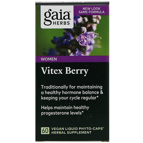 Gaia Herbs, Ягоды витекса, 60веганских фито-капсул с жидкостью