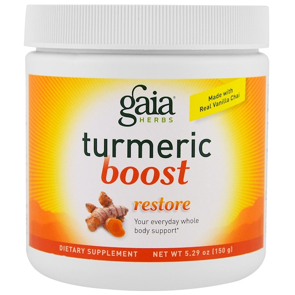 Gaia Herbs, Восстанавливающий крем TurmericBoost, 5,29 унции (150 г) (Discontinued Item)