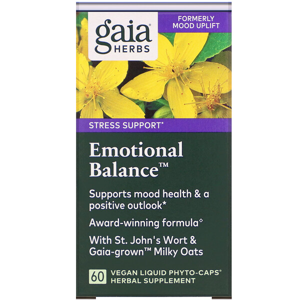 Gaia Herbs, Emotional Balance, 60 веганских капсул Phyto-Cap (Discontinued Item)