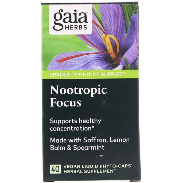 Nootropic Focus, 40 Vegan Liquid Phyto-Caps