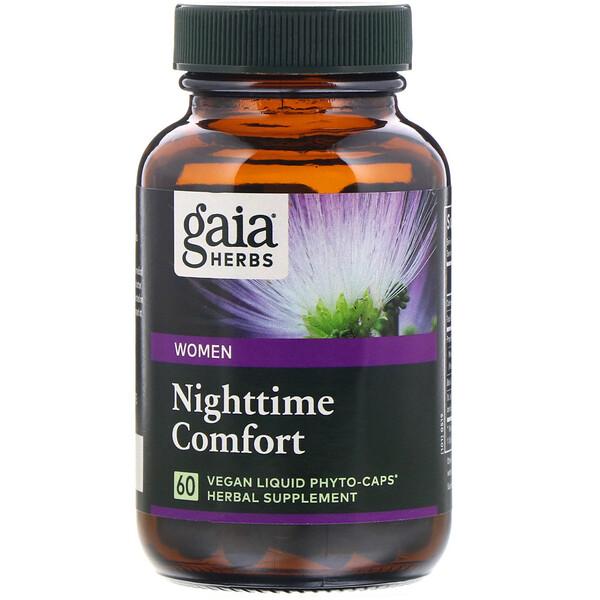 Gaia Herbs, Поддержка здорового сна у женщин, 60растительных капсул Phyto-Caps с жидкостью