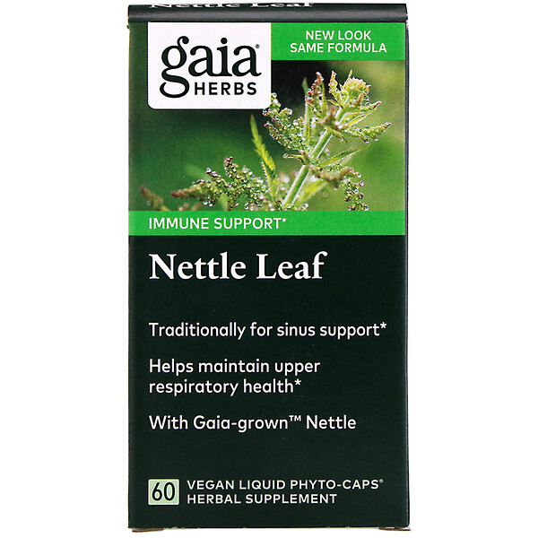 Gaia Herbs, Листья крапивы, 60веганских капсул Liquid Phyto-Caps