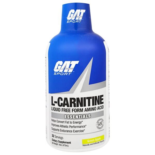 L-карнитин, аминокислота в свободной форме, со вкусом зеленого яблока, 473 мл (16 унций)