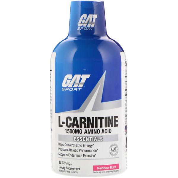 GAT, L-Carnitine, Amino Acid, Rainbow Burst, 1,500 mg, 16 oz (473 ml)