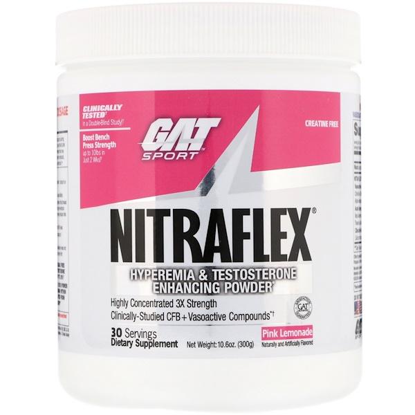 NITRAFLEX, Pink Lemonade, 10.6 oz (300 g)