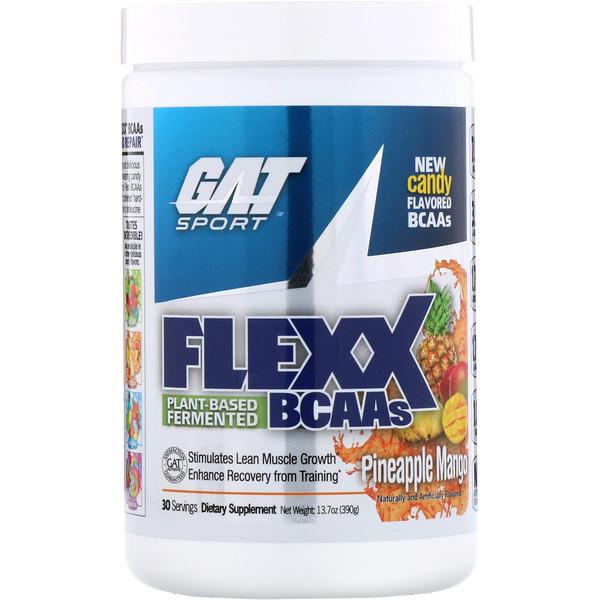 GAT, Аминокислоты с разветвленной цепью Flexx, ананас и манго, 13,7 унц. (390 г) (Discontinued Item)