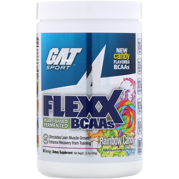 Аминокислоты с разветвленной цепью Flexx, радужная конфета, 13,7 унц. (390 г)