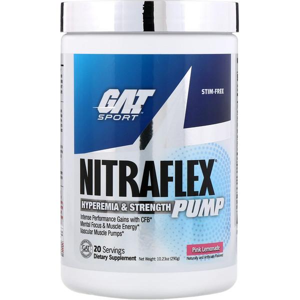 Добавка для набора мышечной массы Nitraflex Pump, розовый лимонад, 290г