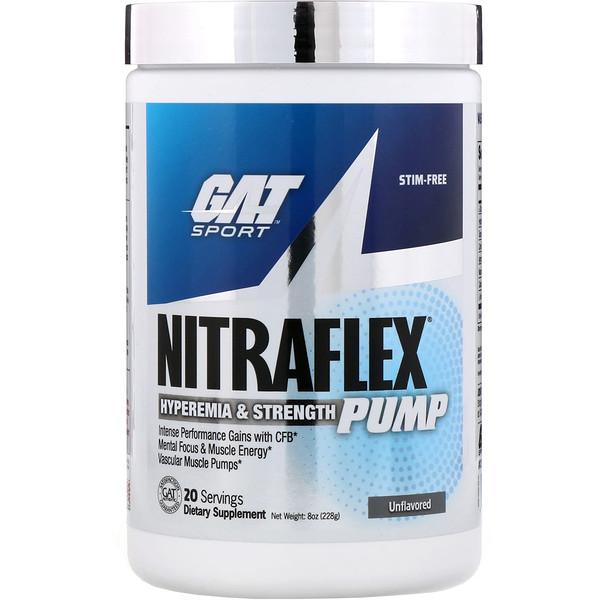 Добавка для набора мышечной массы Nitraflex Pump, без добавок, 228г