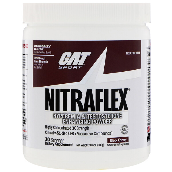 GAT, NITRAFLEX, Black Cherry, 10.6 oz (300 g)