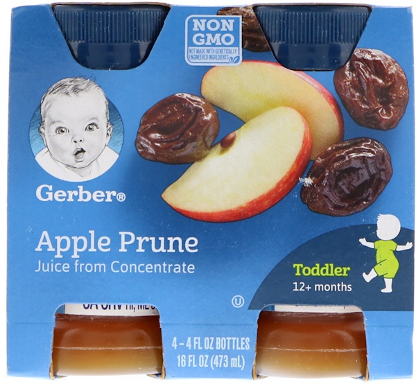 Gerber, Apple Prune Juice, 12+ Months, 4 Pack, 16 fl oz (473 ml)