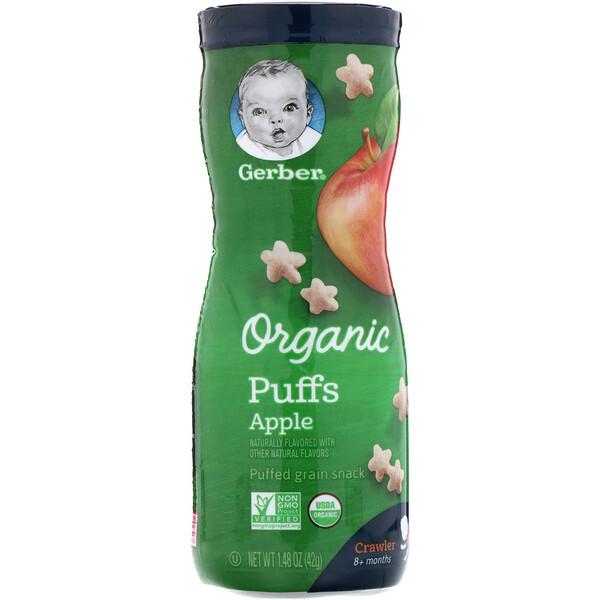 Органические палочки, для детей в возрасте 8 месяцев и старше, яблоко, 42г (1,48унции)