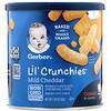 Gerber, Lil' Crunchies, кукурузные палочки для малышей, умеющих ползать (от 8 месяцев), со вкусом сыра чеддер, 42г (1,48унций)