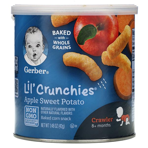 Lil 'Crunchies, палочки для малышей от 8месяцев, яблоко и батат, 42г (1,48унции)